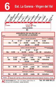 Linea 6 Garena- Virgen del VAl