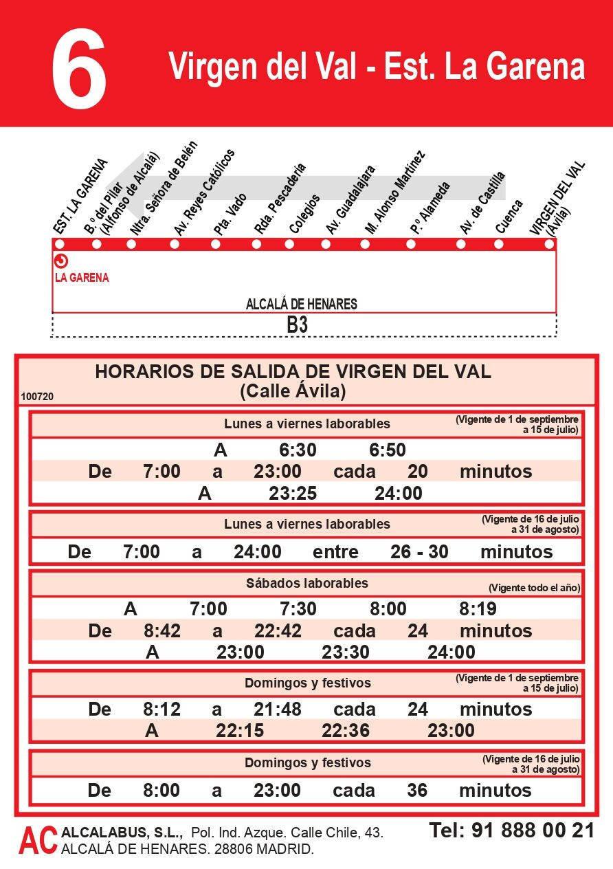 Linea 6 Virgen del Val- Garena