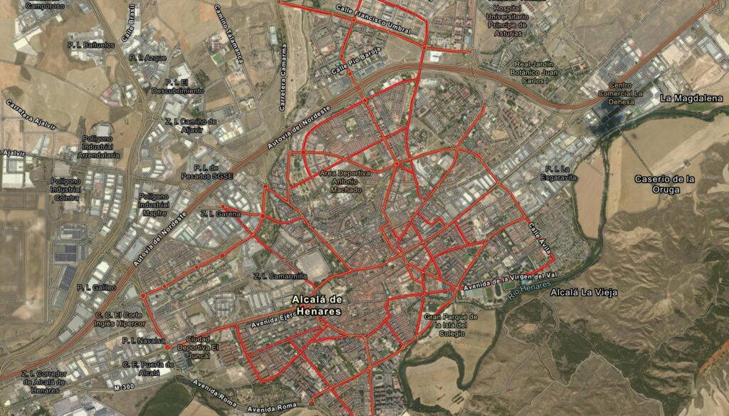 Mapa ciclocarriles